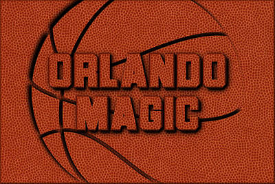 Orlando Magic Leather Art Poster by Joe Hamilton