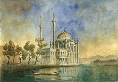 Ortakoy Mosque Istanbul Poster by Juan Bosco