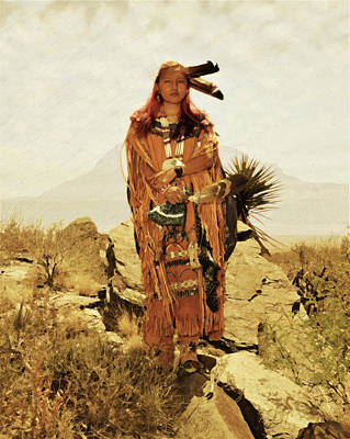 Otero Mesa Apache Maiden Poster by Rich Beer