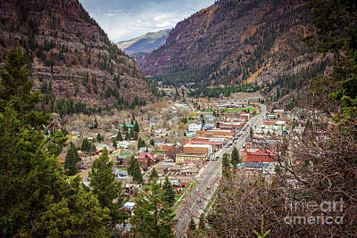 Ouray From Above Poster by Joan McCool
