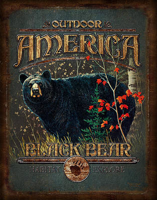 Outdoor Bear Poster by JQ Licensing