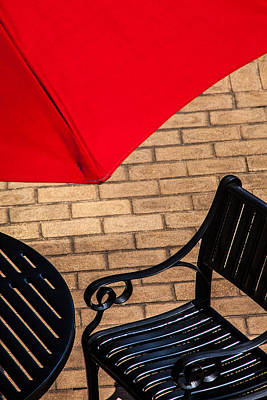 Outdoor Cafe Style Poster by Karol Livote