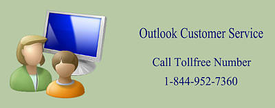 Outlook Customer Care Support Phone Number Poster by Katharine Isabella