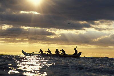 Outrigger Canoe Poster by Vince Cavataio - Printscapes