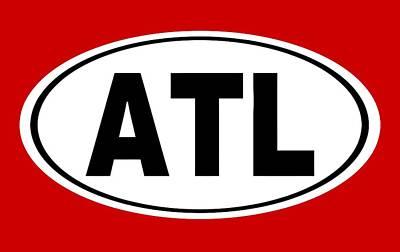 Oval Atl Atlanta Georgia Home Pride Poster by Keith Webber Jr