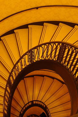 Oval Stairs To Nowhere Poster by Jacques Vesery