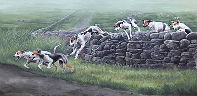 Over The Wall Poster by Barbara Hymer