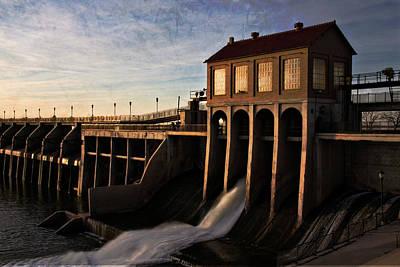 Overholser Dam Poster by Lana Trussell