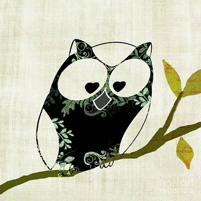 Owl Design - 23a Poster by Variance Collections