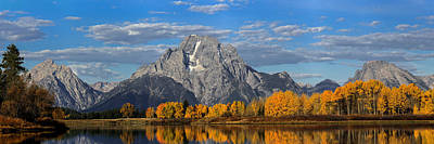 Oxbow Bend In Autumn Poster by Andrew Wells