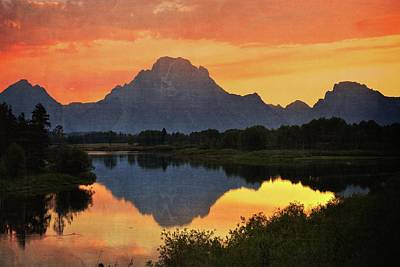 Oxbow Sunset 13 Poster by Marty Koch