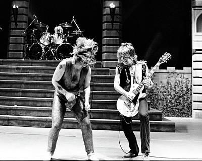 Ozzy Osbourne And Randy Rhoads 1981 Poster by Chris Walter