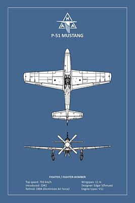 P-51 Mustang Poster by Mark Rogan