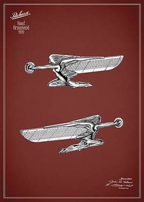 Packard Hood Ornament 1939 Poster by Mark Rogan