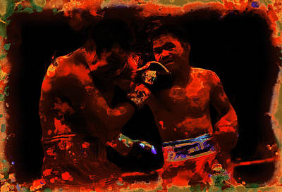 Pacquiao Putting In Work Poster by Brian Reaves