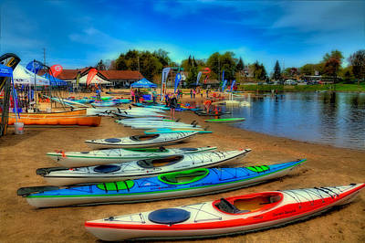 Paddlefest In Old Forge New York Poster by David Patterson
