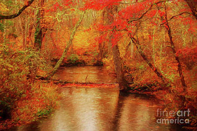 Painted Fall Poster by Geraldine DeBoer