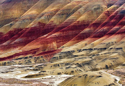 Painted Hills Contour Poster by Mike  Dawson