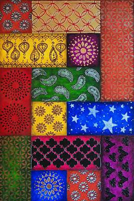 Painted Quilt, Part Poster by Amy Wons