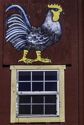 Painted Rooster Poster by Garry Gay