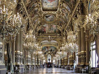Palais Garnier Grand Foyer Poster by Alan Toepfer