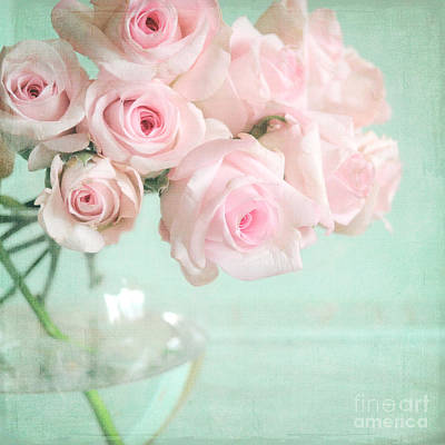 Pale Pink Roses Poster by Lyn Randle