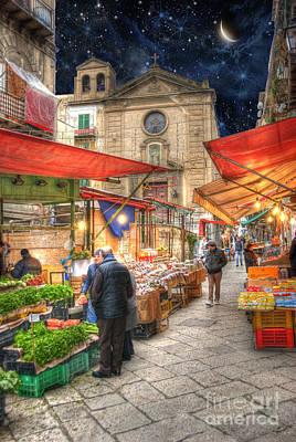 Palermo Market Place Poster by Juli Scalzi
