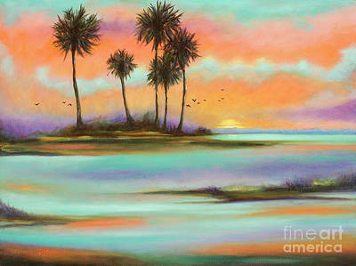 Palm Island By Denise Wood Poster by Denise Wood