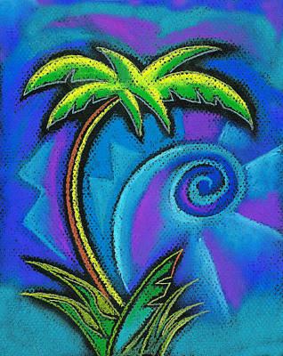 Palm Tree Poster by Leon Zernitsky