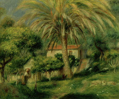 Palm Trees Poster by Pierre Auguste Renoir