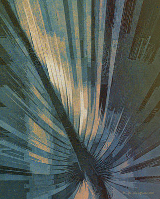 Palmetto Embrace-blue Gold Poster by Marvin Spates