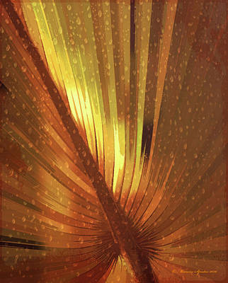 Palmetto Embrace-golden Poster by Marvin Spates