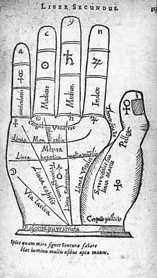 Palmistry Diagram, 1616 Poster by Middle Temple Library