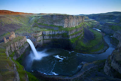 Palouse Falls Dusk Poster by Mike  Dawson
