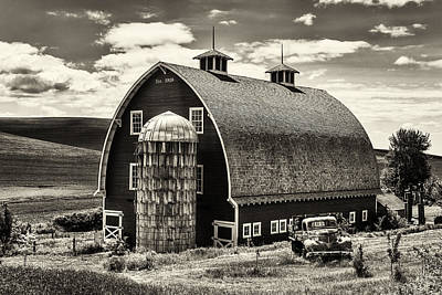 Palouse Icon In Sepia Poster by Mark Kiver
