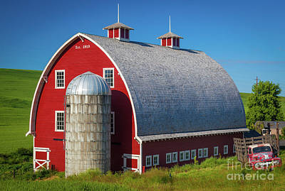 Palouse Red Barn Poster by Inge Johnsson