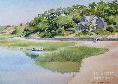 Pamet Harbor Cottage Poster by Karol Wyckoff