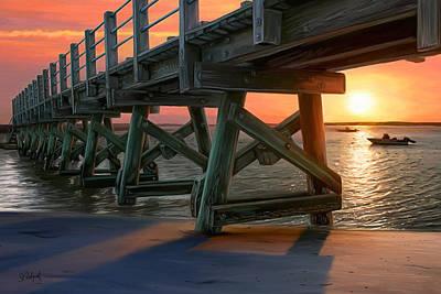 Pamet Harbor Sunset Poster by Sue  Brehant