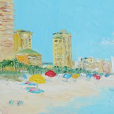 Panama City Beach Painting Poster by Jan Matson