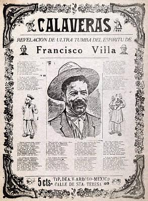 Pancho Villa. Calaveras, Revelation Poster by Everett