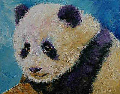 Panda Cub Poster by Michael Creese