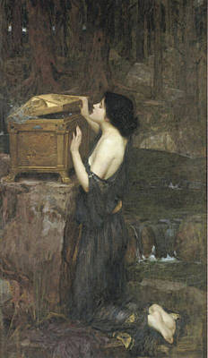 Pandora Poster by John William Waterhouse