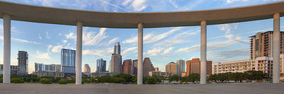 Panorama Of Downtown Austin Texas On A Summer Evening 1 Poster by Rob Greebon