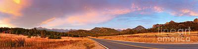 Panorama Of Estes Park Continental Divide And Lumpy Ridge - Rocky Mountains National Park Colorado Poster by Silvio Ligutti