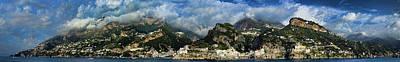 Panorama Of The Amalfi Coastline Poster by David Smith