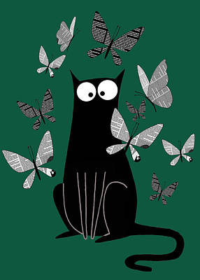 Paper Butterflies  Poster by Andrew Hitchen