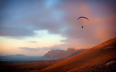 Paragliding In Paradise Poster by Mountain Dreams