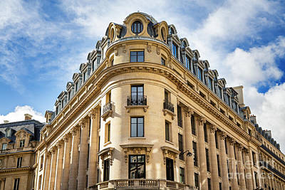 Paris Architecture Poster by Jane Rix
