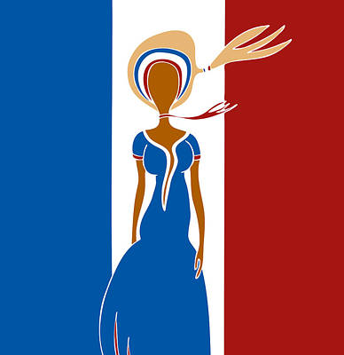 Paris Fashion Poster by Frank Tschakert