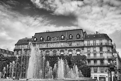 Paris Fountains Grandeur Poster by Georgia Fowler